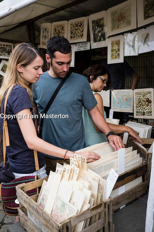 Weekend Fleamarket at Mauerpark in Prenzlauer Berg in Berlin Germany