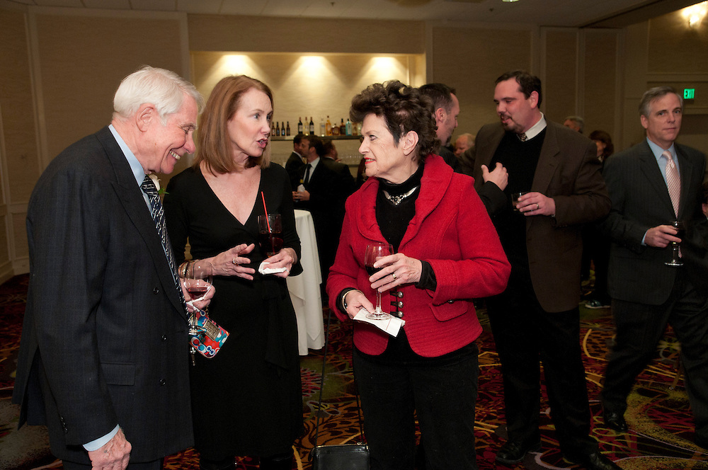 Speranza and Bates Managing Partner Carmen V. Speranza (left) and his wife Joan (right) chat with Lake County Circuit Court Judge Margaret J. Mullen during the Lake County Bar Association (LCBA) PresidentÕs Award Dinner at the Marriott Lincolnshire Resort on Friday, February 22nd, 2013. Carmen is being recognized as an LCBA Senior Counselor© 2013 Brian J. Morowczynski ViaPhotos