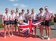 Brandenburg. GERMANY. GBR M8+, BOw Matt GOTREL. Scott DURANT, Tom RANSLEY, Paul BENNETT, Peter REED, Andy TRIGGS HODGE, Matt LANGRIDGE, Will SATCH and  Cox Phelan HILL. 2016 European Rowing Championships at the Regattastrecke Beetzsee<br /> <br /> Sunday  08/05/2016<br /> <br /> [Mandatory Credit; Peter SPURRIER/Intersport-images]
