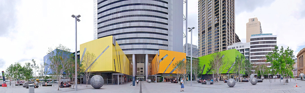 The Queen Street Mall in downtown Brisbane, Queensland