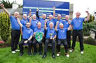 Limerick Golf Club Team Back (LtoR)Hugh Conlon, Paul Byrne, Edgar Ahern, Pat Lee, Ger Naughton, Maurice Hickey, Eamon Grimes,  Michael Ahern,  <br /> Front (LtoR) Gavin Cross, team captain Brian Morris, Club captain Brien Morris, Gerard Gleeson after the All Ireland Four Ball Interclub Final, Roe Park resort, Limavady, Derry, Northern Ireland. 15/09/2019.<br /> Picture Fran Caffrey / Golffile.ie<br /> <br /> All photo usage must carry mandatory copyright credit (© Golffile | Fran Caffrey)<br /> <br /> Team Details to Follow: