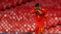 LONDON, ENGLAND - Thursday, October 8, 2020: Wales' Tyler Roberts looks dejected during the International Friendly match between England and Wales at Wembley Stadium. The game was played behind closed doors due to the UK Government's social distancing laws prohibiting supporters from attending events inside stadiums as a result of the Coronavirus Pandemic. England won 3-0. (Pic by David Rawcliffe/Propaganda)