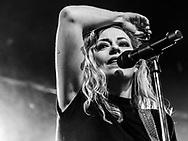 Anneke van Giersbergen of Dutch progressive metal band Vuur at Colos-Saal in Aschaffenburg
