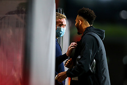Bristol City head coach Dean Holden greets Lloyd Kelly of Bournemouth - Rogan/JMP - 28/10/2020 - Vitality Stadium - Bournemouth, England - Bournemouth v Bristol City - Sky Bet Championship.