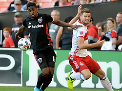 August 5, 2017 - Washington, DC, USA - 20170805 - D.C. United forward DESHORN BROWN (17) advances the ball and shakes off Toronto FC forward ERIQ ZAVALETA (15) in the first half at RFK Stadium in Washington. (Credit Image: © Chuck Myers via ZUMA Wire)