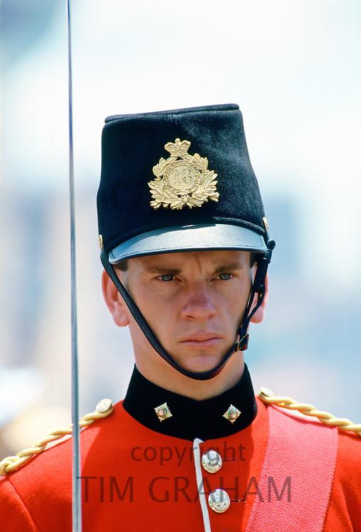 Soldier in ceremonial uniform,  Bicentennial Day,  Australia.