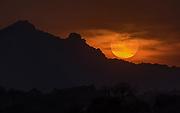 Sunset close to Jawai River, Rajasthan, India.