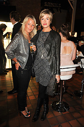 Left to right, DAVINA HARBORD and ISABELLA ANSTRUTHER-GOUGH-CALTHORPE at the Launch of Peroni Nastro Azzurro Accademia del Film Wrap Party Tour held atThe Boiler House, 152 Brick Lane, London E1 on 25th August 2010.