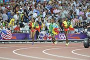 Olympic Stadium, Stratford, London, United Kingdom<br /> <br /> Description:<br /> <br /> 2012 London Olympic, Athletics, <br /> . <br /> <br /> 20:25:20  Friday  10/08/2012 [Mandatory Credit: Peter Spurrier/Intersport Images]