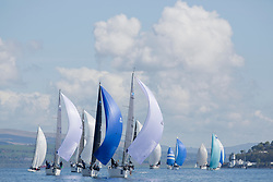 Lights winds dominated the Pelle P Kip Regatta  at Kip Marine weekend of 12/13th May 2018<br /> <br /> RC 35 Fleet with, GBR7667R, Now or Never 3, Neil Sandford, Fairlie YC, Mat 1010, GBR9470R, Banshee, Charlie Frize, CCC, Corby 33.<br /> <br /> Images: Marc Turner