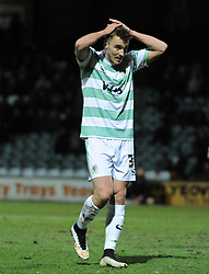 Yeovil Town's Adam Morgan has a penalty saved by Walsall's Richard O'Donnell - Photo mandatory by-line: Harry Trump/JMP - Mobile: 07966 386802 - 03/03/15 - SPORT - Football - Sky Bet League One - Yeovil v Walsall - Huish Park, Yeovil, England.