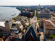 Aerial photograph of the Science Hall, University of Wisconsin-Madison, Madison, Wisconsin, USA.