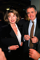 MR & MRS PETER HAMBRO members of the banking family, at a party in London on 17th January 2000.OAD 8