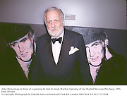 John Richardsonin front of a painting by him by Andy Warhol. Opening of the Warhol Museum Pittsburg. 1993.<br />Film vf93292<br />© Copyright Photograph by Dafydd Jones<br />66 Stockwell Park Rd. London SW9 0DA<br />Tel 0171 733 0108