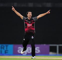 Lewis Gregory of Somerset appeals for the wicket of Will Smith.  - Mandatory by-line: Alex Davidson/JMP - 02/08/2016 - CRICKET - The Ageas Bowl - Southampton, United Kingdom - Hampshire v Somerset - Royal London One Day