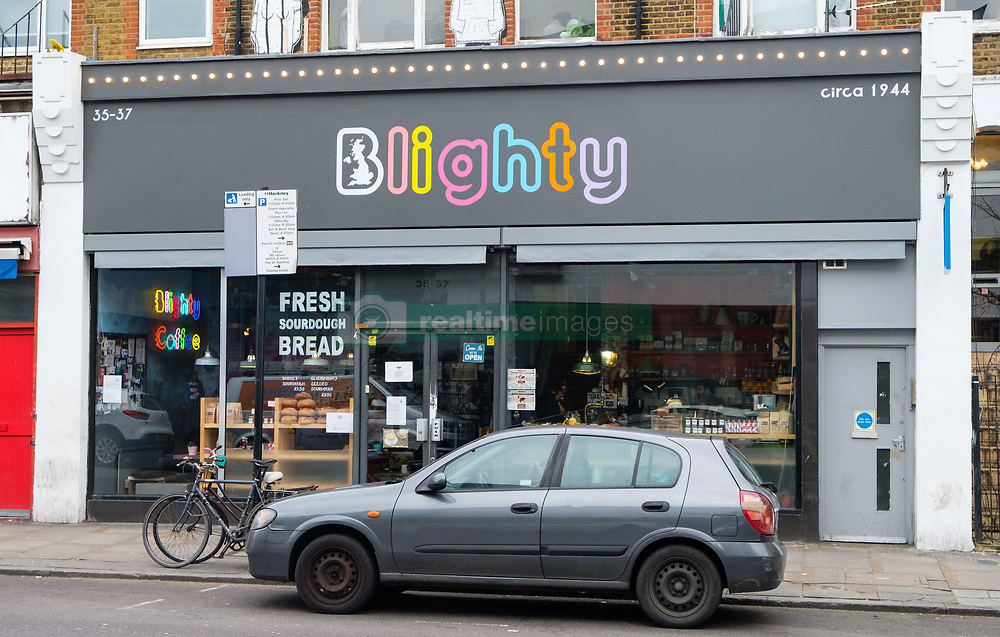 February 5, 2018 - London, London, UK - Winston Churchill themed Blighty Cafe in Finsbury Park has shot up in the TripAdvisor rankings as one of London's top-rated eateries. Last week a group of nine demonstrators stormed the Blighty UK cafe in Finsbury Park, north London, urging customers to boycott it for 'colonialism' and chanting 'Churchill was racist' (Credit Image: © Ray Tang via ZUMA Press)