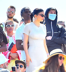 Travis Scott and Kylie Jenner show lots of PDA while hanging out with family and watching Kanye West perform his 'Church Sunday Services' at Coachella in Indio, CA. 21 Apr 2019 Pictured: Travis Scott and Kylie Jenner show lots of PDA while hanging out with family and watching Kanye West perform his 'Church Sunday Services' at Coachella in Indio, CA. Photo credit: Marksman / MEGA TheMegaAgency.com +1 888 505 6342