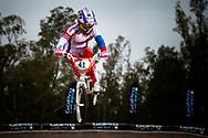 #41 (SUVOROVA Natalia) RUS at the 2014 UCI BMX Supercross World Cup in Santiago Del Estero, Argentina.