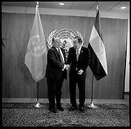 President of Yemen Abdrabuh Mansour Hadi Mansour,with United Nations Secretary General Ban Ki moon.