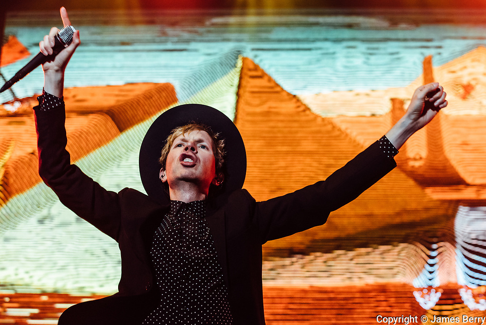 Beck (real name Beck Hansen) performs live at Brixton Academy, London, on Tuesday 28 June 2016. ** restriction: one time editorial use, prior to 28 June 2017 **