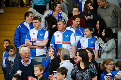 Bristol Rovers supporters look dejected - Photo mandatory by-line: Rogan Thomson/JMP - 07966 386802 - 03/05/2014 - SPORT - FOOTBALL - Memorial Stadium, Bristol - Bristol Rovers v Mansfield Town - Sky Bet League Two. (Note: Mansfield are wearing a Rovers spare kit having forgotten their own).