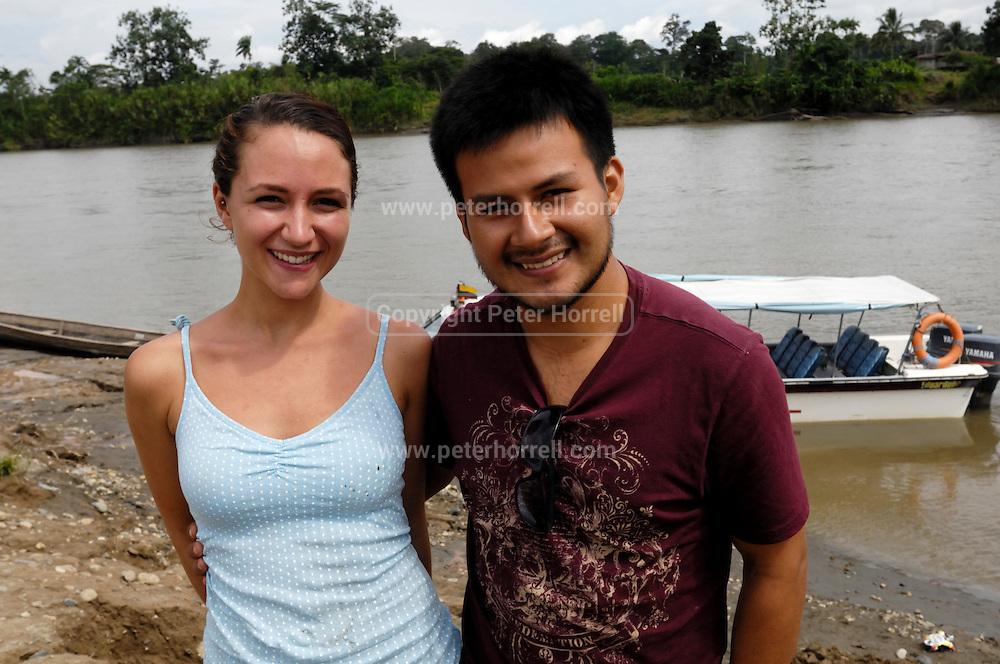 Ecuador, May 16 2010: Hugo and Sadie from Cofan Lodge. Copyright 2010 Peter Horrell