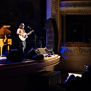 Kevin Drew performs in the 2014 Portsmouth Singer Songwriter Festival at The Music Hall in Portsmouth, NH, on April 11, 2014