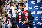 Student Profile: Ke'Von Miles on his graduation day at The University of Connecticut.