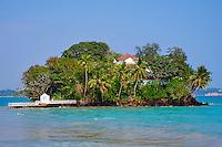 Sri Lanka, province du sud, baie et plage de Weligama, île de Taprobane // Sri Lanka, Southern Province, South Coast beach, Weligama bay, Taprobane island