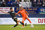 Luton Town player Andrew Shinnie controls the ball in the box during the first half during the EFL Sky Bet League 1 match between Luton Town and AFC Wimbledon at Kenilworth Road, Luton, England on 23 April 2019.