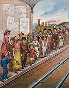 Twice Nine are Eighteen,/They kept the children waiting,/...' . Multiplication rhyme, c1890.