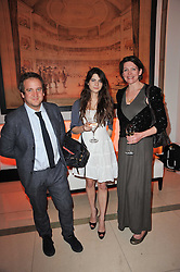 Left to right, TOM FREUD, MARTHA FREUD and THOMASINA MIERS at the 38th Veuve Clicquot Business Woman Award held at Claridge's, Brook Street, London W1 on 28th March 2011.