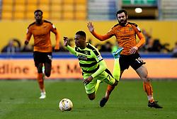 Rajiv van La Parra of Huddersfield Town is fouled by Jack Price of Wolverhampton Wanderers - Mandatory by-line: Robbie Stephenson/JMP - 25/04/2017 - FOOTBALL - Molineux - Wolverhampton, England - Wolverhampton Wanderers v Huddersfield Town - Sky Bet Championship