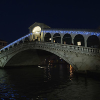 VENICE, ITALY - DECEMBER 08:  Rialto Bridge with Christmas lights is seen on December 8, 2011 in Venice, Italy. HOW TO LICENCE THIS PICTURE: please contact us via e-mail at sales@xianpix.com or call our offices in London   +44 (0)207 1939846 for prices and terms of copyright. First Use Only ,Editorial Use Only, All repros payable, No Archiving.© MARCO SECCHI