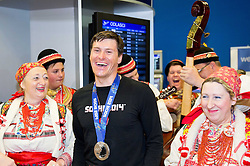 Ivica Kostelic of Croatia, silver medallist during reception at arrival from Sochi Winter Olympic Games 2014 on February 23, 2014 in Airport Zagreb, Croatia. Photo by Vid Ponikvar / Sportida