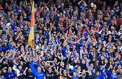 TSG 1899 Hoffenheim fans in the stands