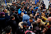 Matteo Salvini. Manifestazione organizzata da 'Noi con Salvini' contro la legge sullo Ius Soli, Roma 10 Dicembre 2017. Christian Mantuano / OneShot<br /> <br /> Lega Nord party supporters demonstrate against the 'Ius Soli' law on December 10, 2017 in Rome. Christian Mantuano / OneShot