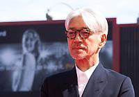Ryuichi Sakamoto at the premiere of the film Ryuichi Sakamoto: Coda at the 74th Venice Film Festival, Sala Grande on Sunday 3 September 2017, Venice Lido, Italy.