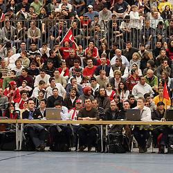 Mannheim 29.03.2008, Best of Albert Schweitzer Turnier 2008, Die Fans beim Spiel im Spiel zwischen Deutschland - Türkei<br /> <br /> Foto © Rhein-Neckar-Picture *** Foto ist honorarpflichtig! *** Auf Anfrage in höherer Qualität/Auflösung. Belegexemplar erbeten.