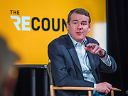 02 NOVEMBER 2019 - DES MOINES, IOWA: US Senator MICHAEL BENNET (D-CO), running to be the Democratic  nominee for the US presidency records an episode of Recount in Des Moines Saturday. Iowa is the first state to host a presidential selection event. The Iowa caucuses are Feb. 3, 2020.              PHOTO BY JACK KURTZ
