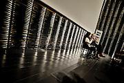 "Franco Batiatto presenting his last film ""Musikanten"" at the Cineteca, Madrid"