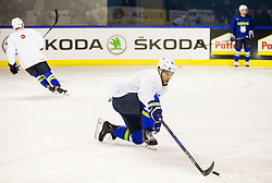 Robert Sabolic of Slovenia during practice session of Team Slovenia at the 2017 IIHF Men's World Championship, on May 11, 2017 in AccorHotels Arena in Paris, France. Photo by Vid Ponikvar / Sportida