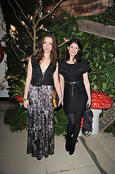 Left to right, REBECCA HALL and GEMMA ARTERTON at Mulberry's party following their fashion show as part of London Fashion Week Autumn Winter Collection 2011 held at Claridges, Brook Street, London on 20th February 2011.