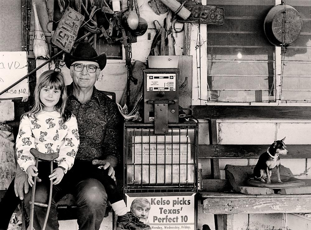 Crumley's General Store, 1986, Texas Photographic Society (TPS) award. South Austin, Texas