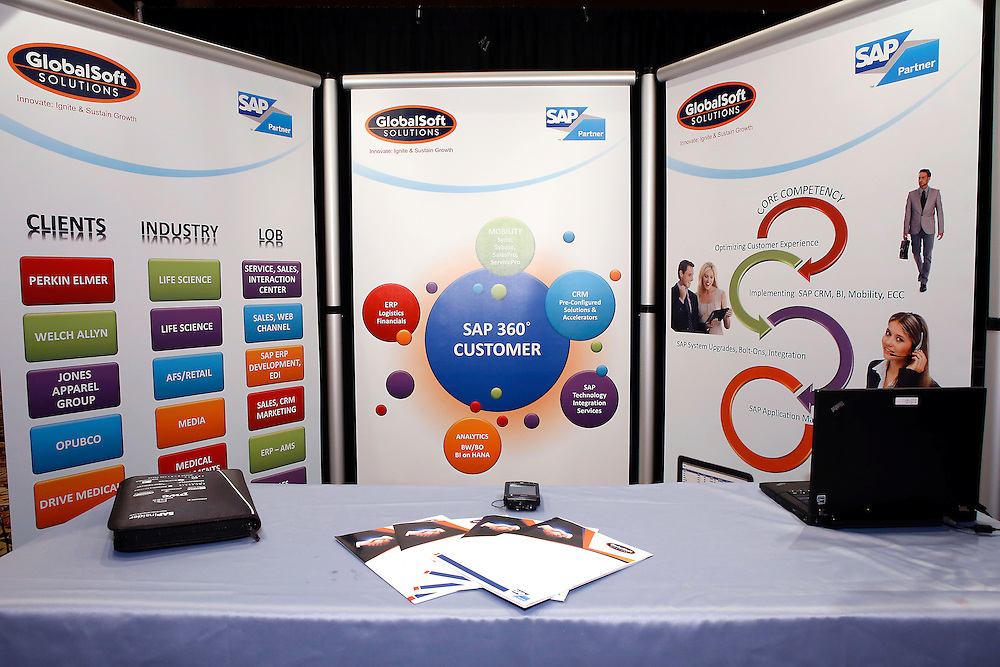GlobaSoft SOLUTIONS booth .