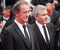 Actor Vincent Lindon and director Stephane Brize at the Closing ceremony and premiere of La Glace Et Le Ciel at the 68th Cannes Film Festival, Sunday 24th May 2015, Cannes, France.