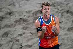 Florian Breer SUI in action during the last day of the beach volleyball event King of the Court at Jaarbeursplein on September 12, 2020 in Utrecht.