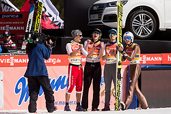 Piotr Zyla, Dawid Kubacki, Maciej Kot and Kamil Stoch of Poland react during the Ski Flying Hill Men's Team Competition at Day 3 of FIS Ski Jumping World Cup Final 2017, on March 25, 2017 in Planica, Slovenia. Photo by Vid Ponikvar / Sportida