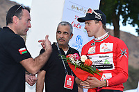 Podium, BOASSON HAGEN Edvald (NOR) Dimension Data, Red Leader Jersey,  Thierry GOUVENOU (Fra) Race Director TDF, during the 7th Tour of Oman 2016, Stage 2, Omantel Head Office - Quriyat 250m (162Km), on February 17, 2016 - Photo Tim de Waele / DPPI