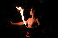 """Fire Dance - One of the types of Kandyan dances in their repertoire is the """"fire dance"""" where dancers not only walk on hot coals barefoot, but breath and spit fire."""